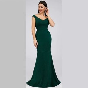 B.E. Evenings Dresses - **On Sale Today Only** Dark Green Evening Gown
